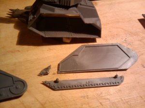Cutting the Russ inner track plates to match the Ironclad units