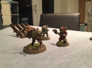 Emeric & co approach the shaft - giant mutant to the fore