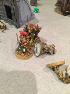 Emeric is down, but the Minotaur finally kills the last bug and joins the fight